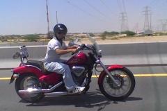 Honda Shadow on the E311, Dubai